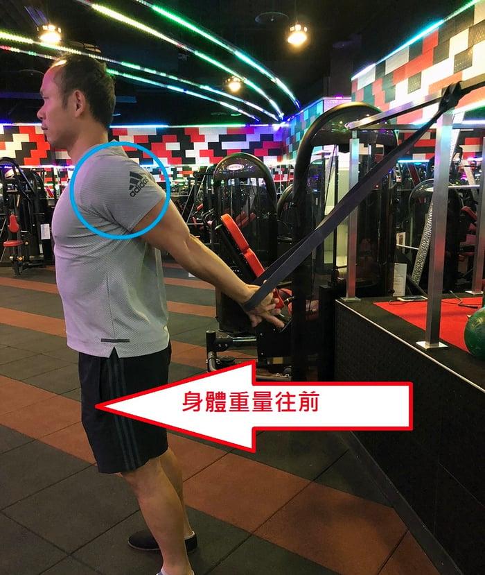 改善圓肩 前三角肌伸展動作 彈力繩