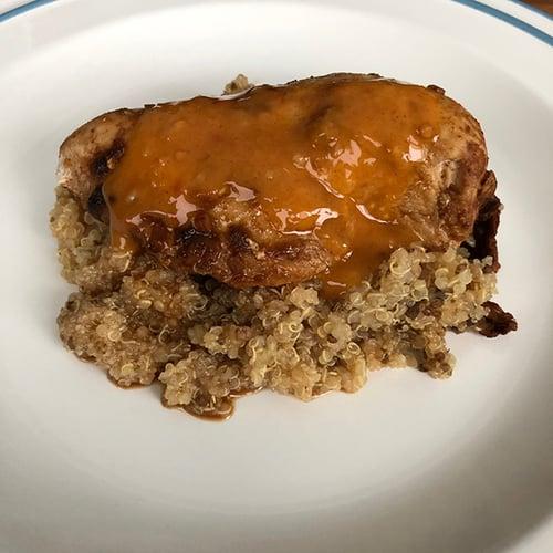午餐-烤雞胸佐藜麥
