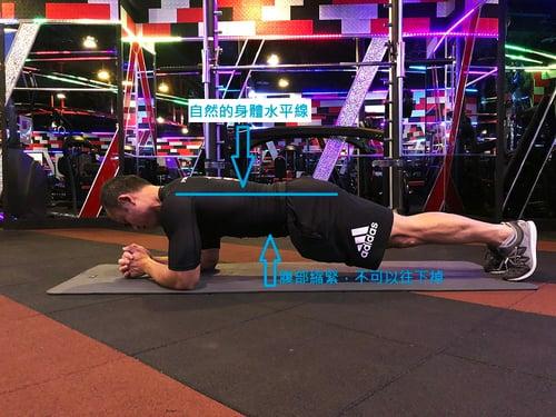 棒式能訓練到核心肌群,加強全身的穩定度,也能緊實大腿內側和臀部肌群,而且CP值超高,在平坦的地方加上一塊瑜珈墊,立馬就能鍛鍊。