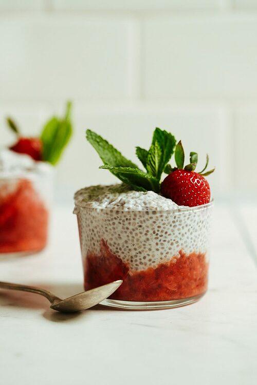 奇亞籽草莓布丁