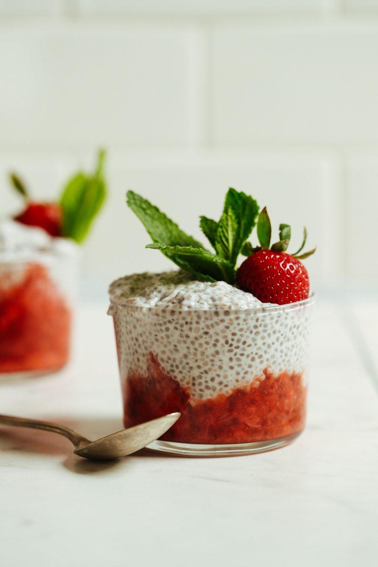 奇亞籽食譜,奇亞子草莓布丁