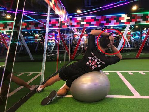 抗力球訓練2-手部姿勢