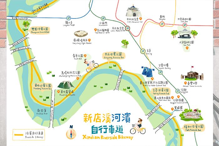 腳踏車路線4:新店溪濱自行車道