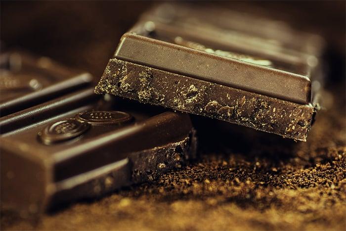 健康零食吃巧克力