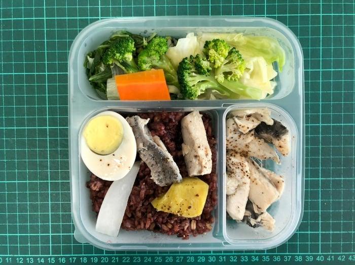 上班日吃健康餐盒