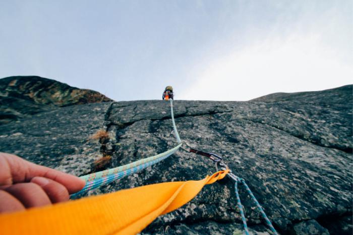 攀岩種類-傳統攀登