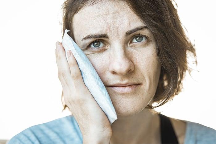 冰敷有助於消除瘀青