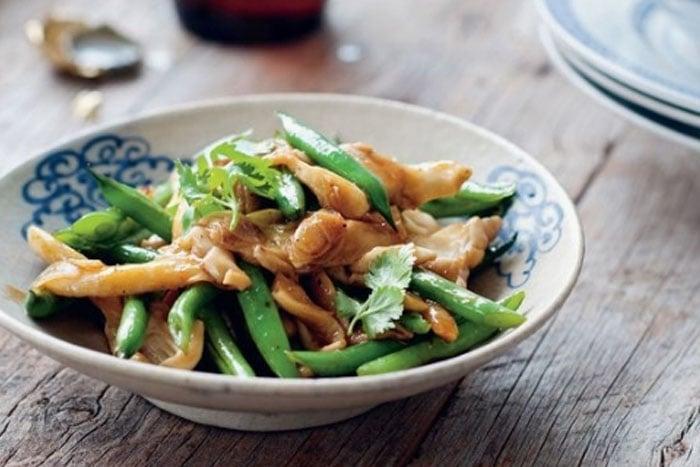 四季豆料理 四季豆炒杏包菇