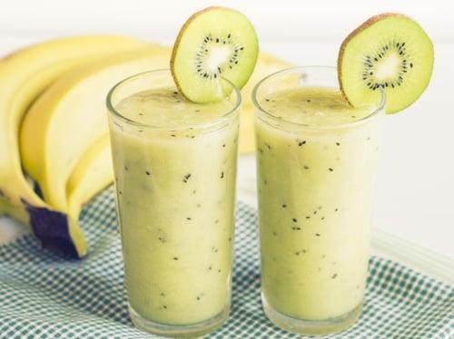 奇異果+鳳梨+香蕉果汁