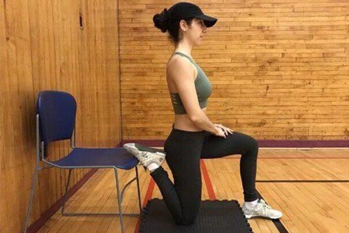 肌肉型瘦下半身運動-小腿前側伸展