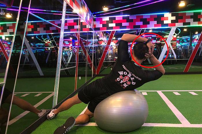 抗力球訓練-手部姿勢