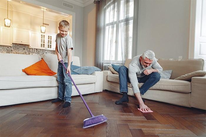木質、石製或塑膠拼貼地板取代地毯