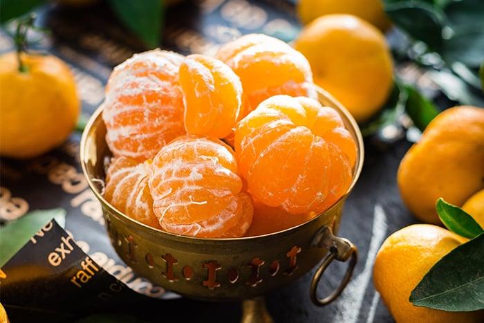 橘子 冬天當季水果 幫助消化 緩解油膩 促進燃脂