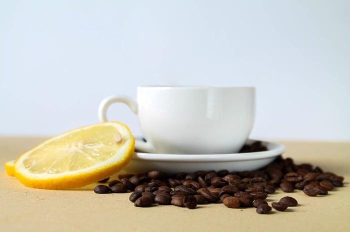 檸檬加咖啡