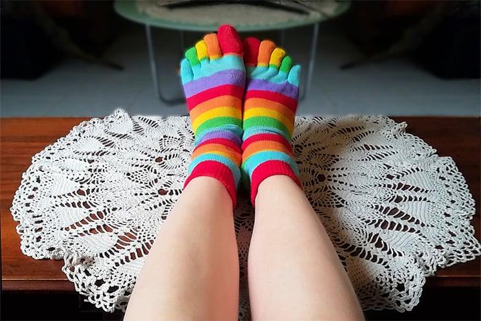 穿五趾襪可以幫助腳減緩壓力