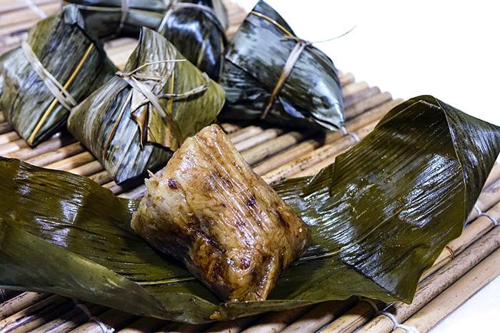 端午節 粽子 肉粽 若米 鹹蛋黃 三層肉 臘腸 熱量高
