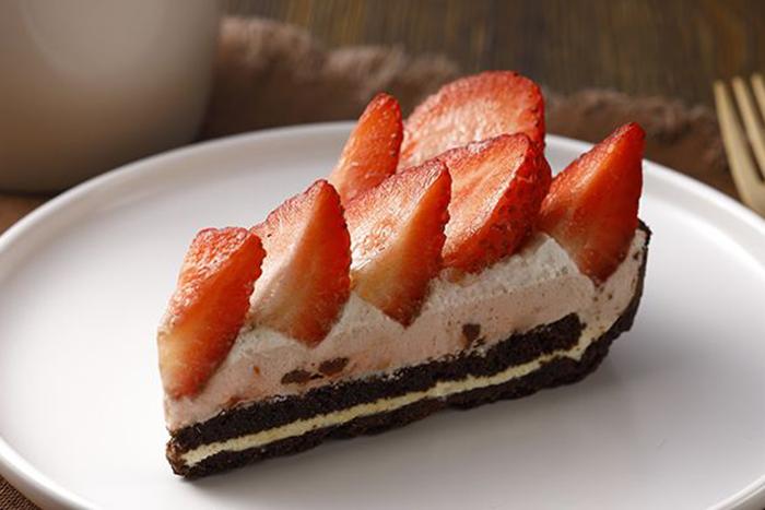 草莓季甜點熱量公開-草莓巧克力塔