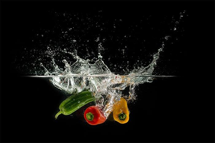 冷凍蔬菜 新鮮蔬菜 選別 清洗 殺菁