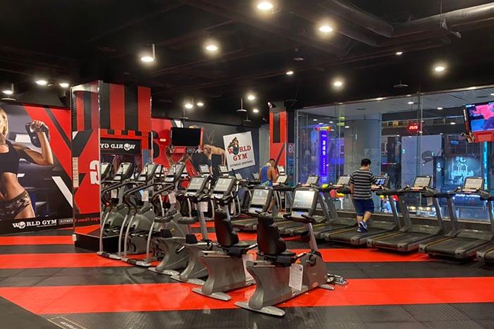 跑步機、健身器材間隔拉大 運動距離安全 社交距離