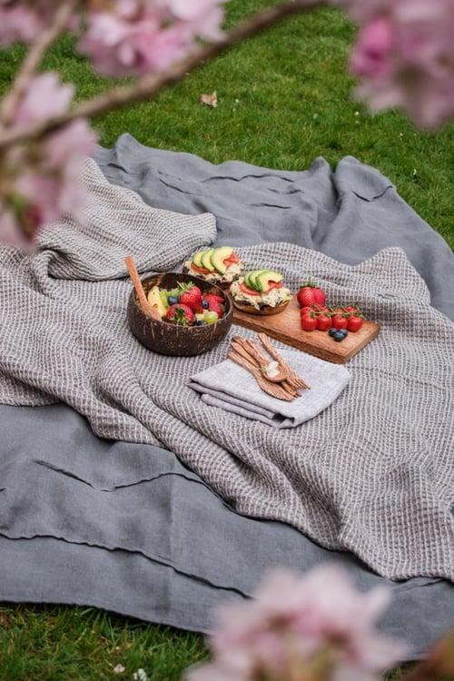 野餐食物-雖然野餐日通常都是秋高氣爽的好天氣,但最怕有個萬一突然來個大熱天,在太陽下野餐,真的很容易沒胃口又口渴,如果再準備很燥熱的食物,會很讓人吃不下去啊!所以為了避免尷尬的局面,記得要多帶水果和飲料。