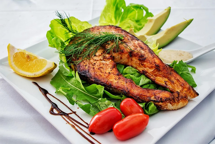 香煎檸檬鮭魚