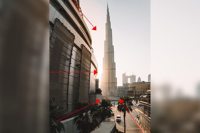 拍攝建築物技巧-使用引導線