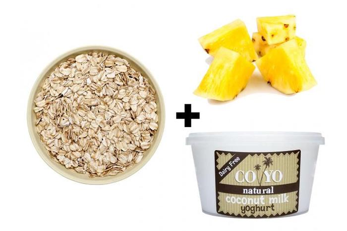 燕麥食譜推薦-鳳梨蛋白質燕麥片