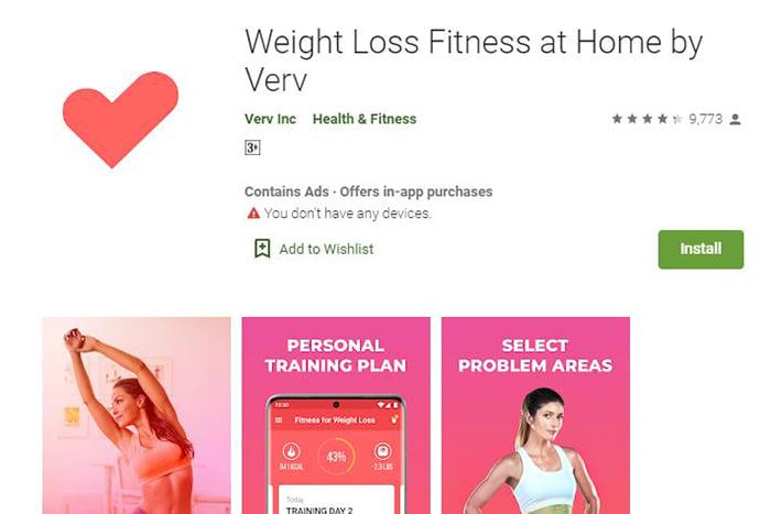 實用健身app,Weight loss fitness by Verv