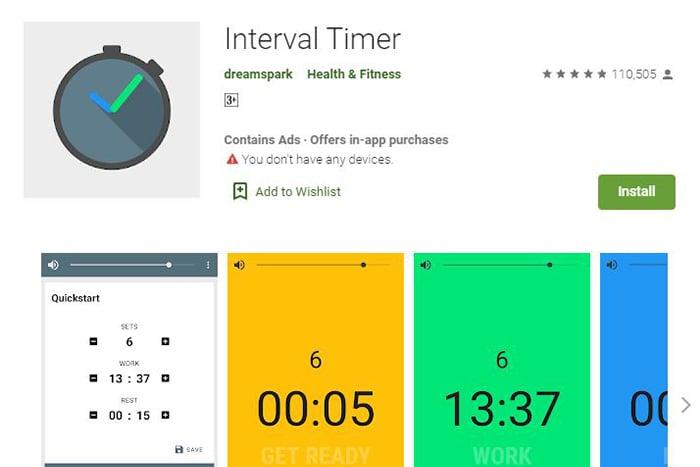 Interval Timer,實用健身app