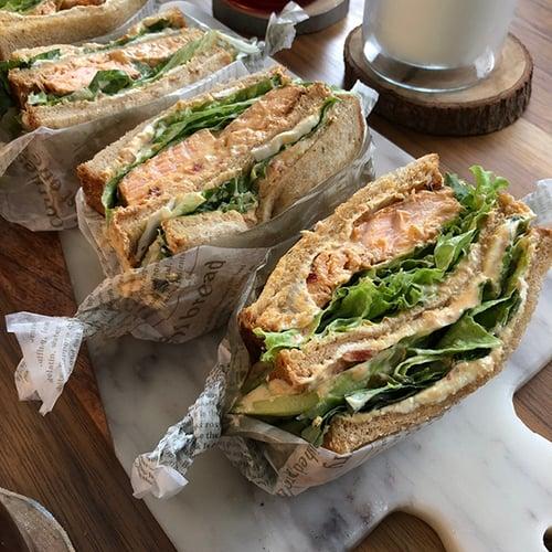 早餐-泉脈鮭魚三明治