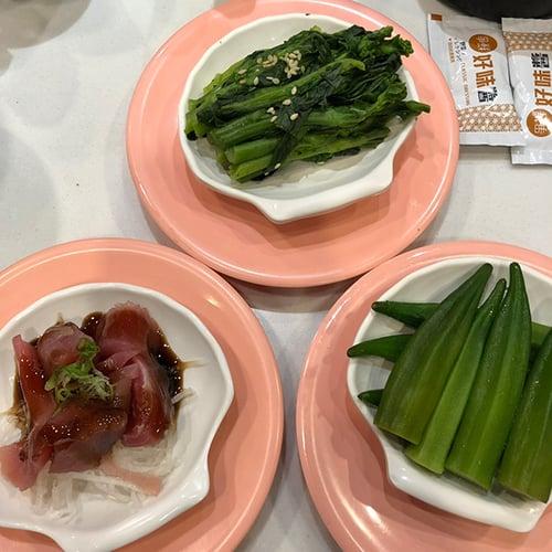 晚餐-爭鮮(生魚片類、秋葵)