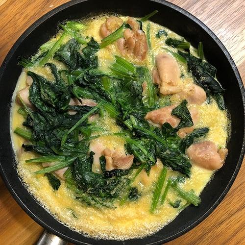 晚餐-菠菜雞肉烘蛋