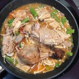 晚餐,烤雞燉蔬菜