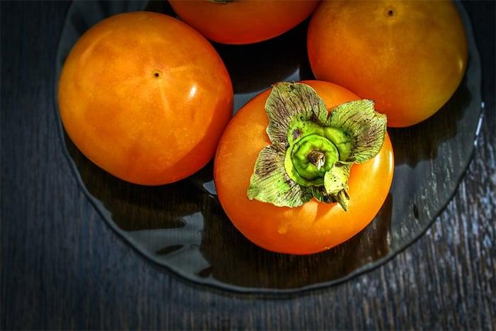 柿子挑選飽滿 新鮮的