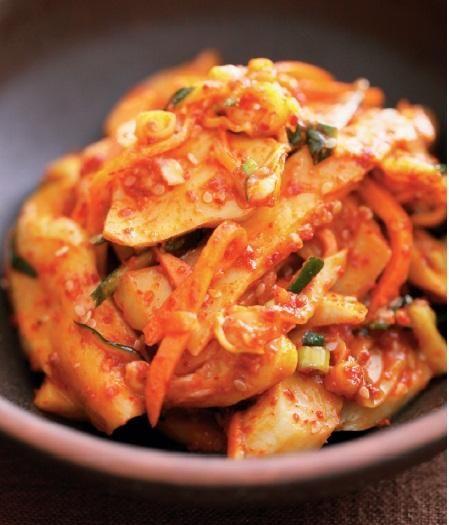 泡菜炒雞胸杏鮑菇