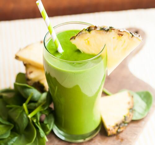綠拿鐵食譜,甜芒鳳梨拿鐵