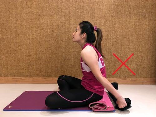 背肩伸展-錯誤姿勢