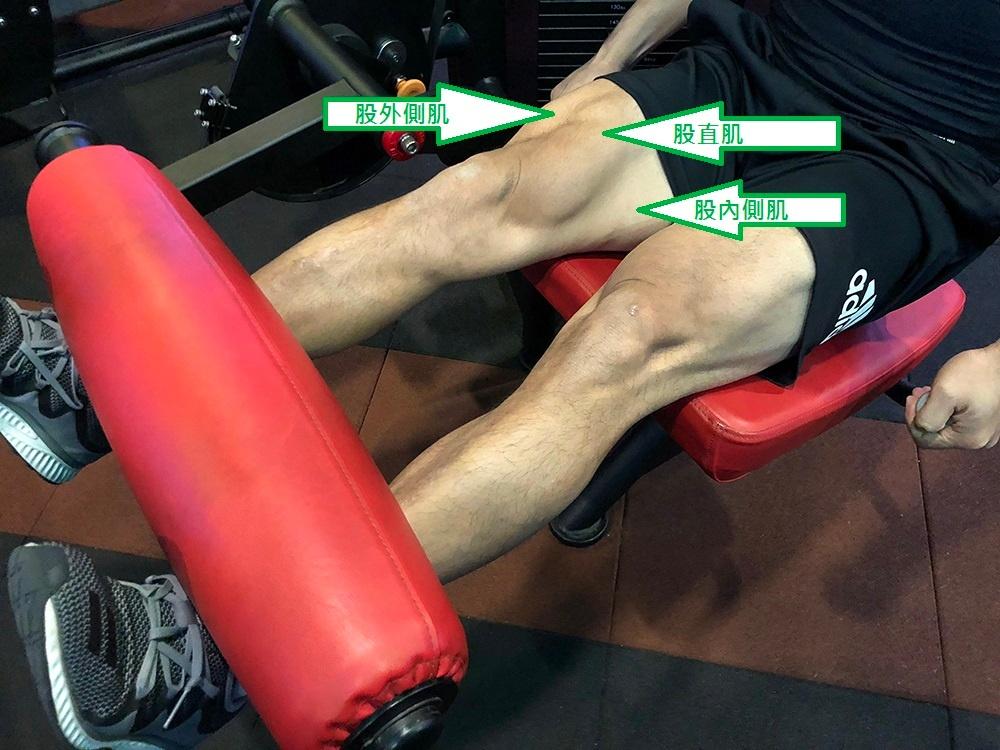 大腿伸展動作示範