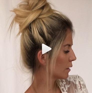 運動時尚髮型教學,丸子頭