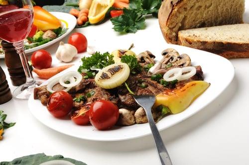 每餐食物一半的份量改成蔬菜類