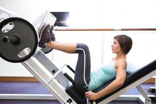 健身器材腿推機