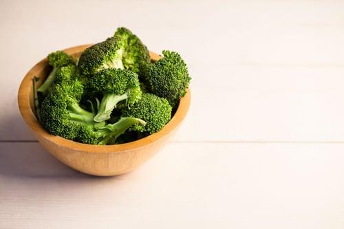 High angle view of fresh broccoli on the table-1