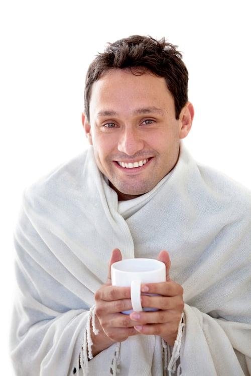 浴後暖身、喝熱飲
