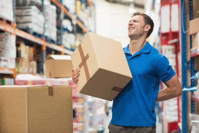工作型態 搬重物 爬上爬下 容易下背痛
