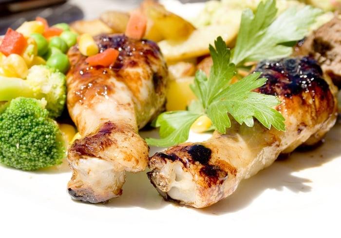 自助餐減肥法 不選勾芡、醬汁多、不吃肉類的皮 雞腿