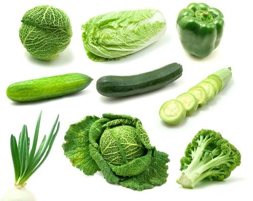 維生素可以從深綠色蔬菜、小麥胚芽攝取