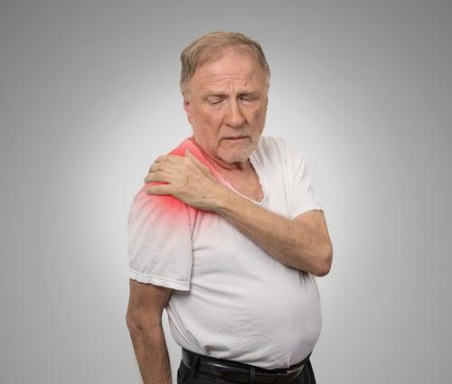 骨質疏鬆退化的老年人容易發生發生圓肩問題