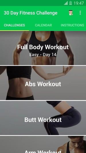 實用健身app,30 Day Fitness Challenge