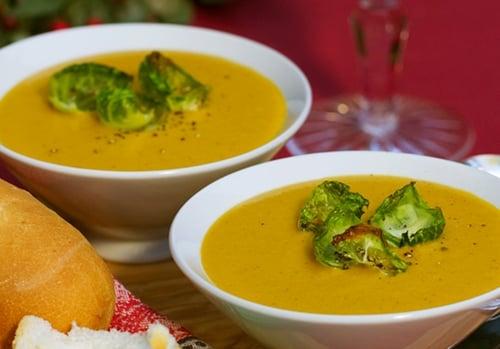 南瓜花椰菜湯