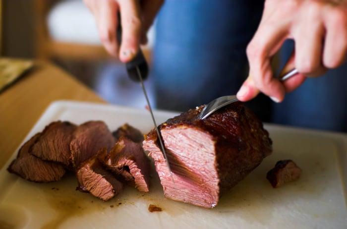 情人節大餐 主餐以低脂肉類為主 菲力牛排 雞胸肉 里肌肉